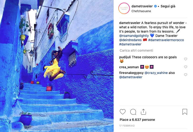 account instagram per viaggiatrici