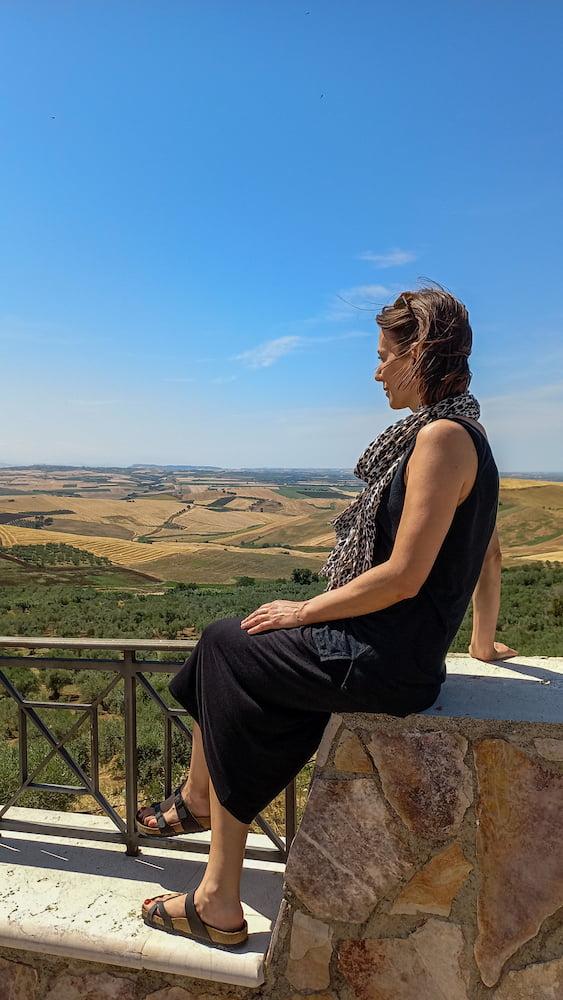vista sull'Alto Tavoliere dal belvedere di Chieuti
